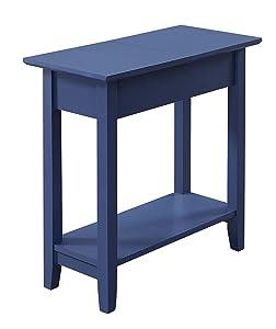 Convenience Concepts , Cobalt Blue American Heritage Flip Top End Table