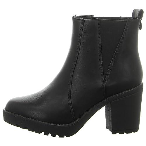 Coolway ILITA Chelsea Piel Negro Botines para Mujer: Amazon.es: Zapatos y complementos