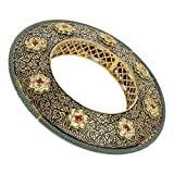 MUCHMORE Fabulous Style Emerald & Ruby Gold Tone Diamond Swarovski Elements Indian Bangles Traditional Jewelry (2.4)
