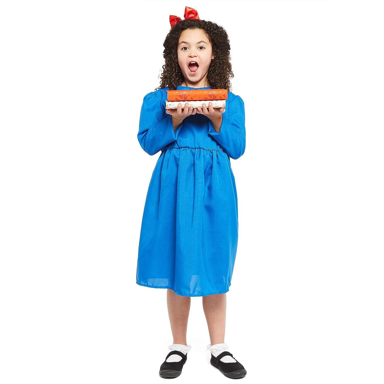 Roald Dahl Matilda Costume World Book Day Girls Childrens Fancy Dress ADD Tights