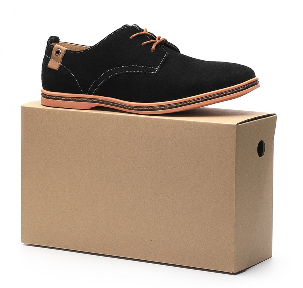 Dadawen Men's Brown Leather Oxford Shoe - 11 D(M) US by DADAWEN (Image #8)