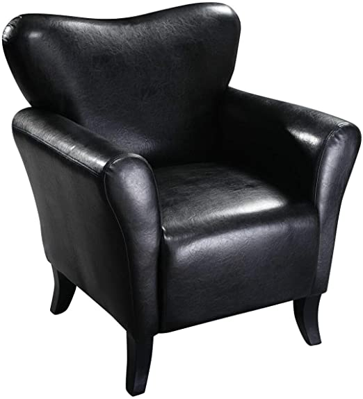 Amazon.com: Relax Lounge Chair Modern PU Leather Leisure Arm ...