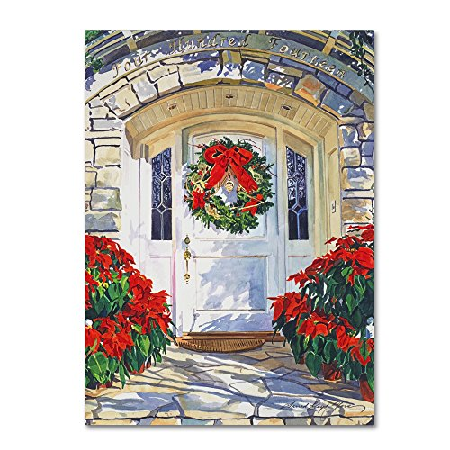 Trademark Fine Art Poinsettia House by David Lloyd Glover