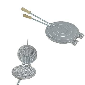 BIERRE STORE Tarro para Galletas Molde para ferratelle Repostería abbruzzesi WAFFEL Aluminio
