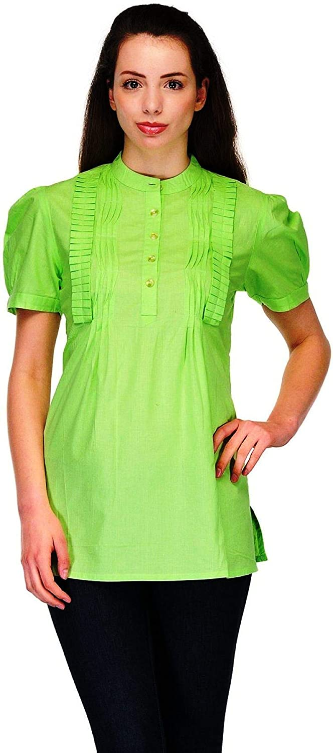 Buy Colors of India Lime Green Tops for Women at Amazon.in