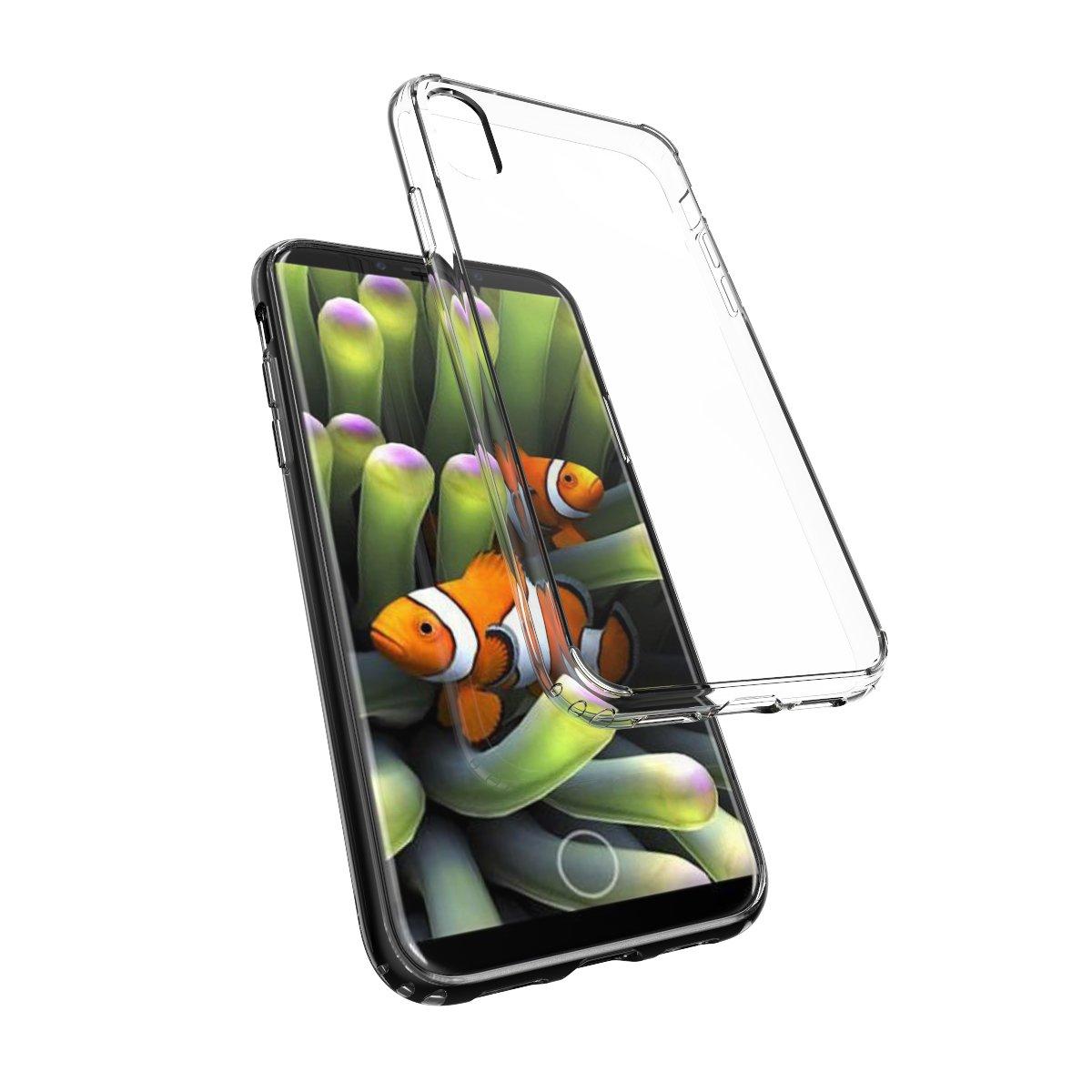 JALFA Carcasa híbrida de TPU para Apple iPhone X ...