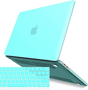 IBENZER New 2020 MacBook Pro 13 Inch Case M1 A2338 A2289 A2251 A2159 A1989 A1706 A1708, Hard Shell Case with Keyboard Cover for Apple Mac Pro 13 Touch Bar(2020-2016), Turquoise, T13TBL+1A