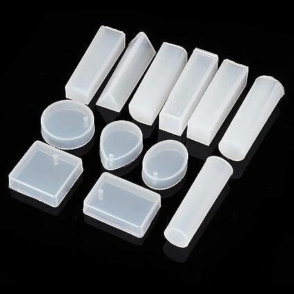 15 moldes de Silicona para Cuentas de Resina epoxi, para Hacer Manualidades