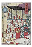 Gathering of Gods at the Great Shrine at Izumo Japanese Wood-Cut Print (20x30 Premium 1000 Piece Jigsaw Puzzle, Made in USA!)