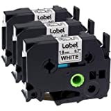 Label KINGDOM Compatible Label Tape Replacement for Brother P-Touch Label Maker TZ TZe Laminated Tape TZe241 TZ241 Black…