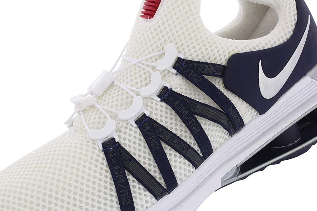 Nike Shox Gravity Men's Shoes White/Metallic Silver-white-obsidian