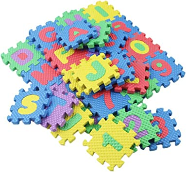 Pinfect 36PCS/Set Alphabet & Numerals Baby Kids Play Mat Educational Toy Soft Mats Crawling Training Tool for Baby
