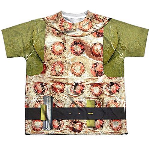 Star Trek Gorn Costume (Front Back Print) Big Boys Sublimation Shirt White XL (Baby Spock Costume)