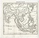 Antique Map-ASIA-CHINA-EAST INDIES-INDONESIA-INDIA-1842