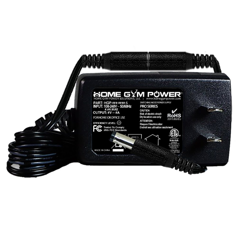 Home Gym Power AC Adapter Breakaway Power Cord Compatible with Gold's Gym Cycle Trainer 300C, 300Ci & 400R, 400Ri '9V Models'