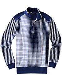 Men's Pima Stripe 1/4 Zip Pullover Golf Jacket