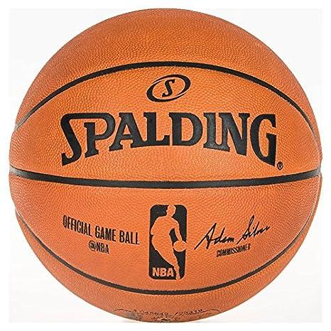 Amazon.com : Spalding Official NBA Game Basketball : Sports ...