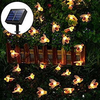 Solar String Lights Outdoor 30 LED Bee Shape Fabselection Decorative Power Solar Garden Decoration Lights