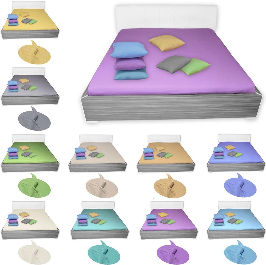 /& Gr/ö/ßen Varianten Bett/überwurf ohne Gummizug 100/% Baumwolle Blau 150 x 240 cm Qool24 Bettlaken Flanell mehrere Farb