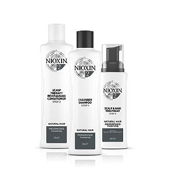 Nioxin Sistema 2 Kit - Champú, Acondicionador y Tratamiento - 150+150+50ml