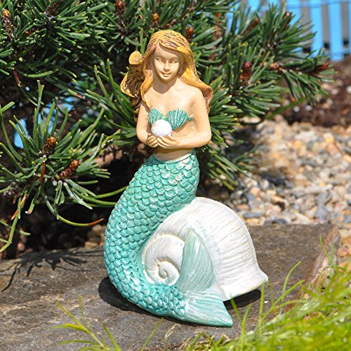 Mermaid with Pearl for Miniature Garden, Fairy Garden for $<!--$6.99-->