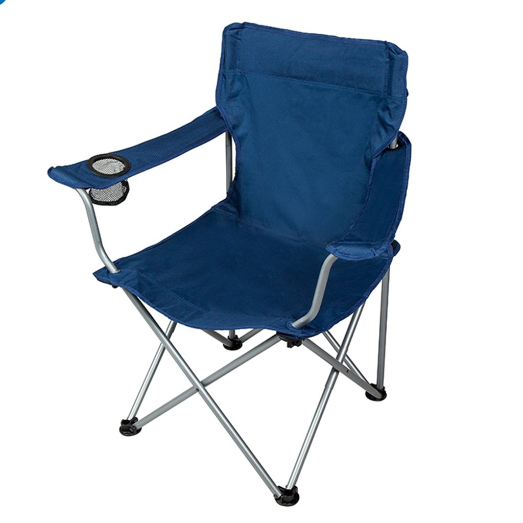 ZGL 旅行椅子 屋外の折りたたみ椅子釣りの椅子レジャーチェア厚く通気性のある固体のポータブルバックチェアネイビー B07C77HCV1