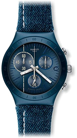 Swatch Reloj de Cuarzo Unisex Follow The Line 40 mm: Swatch: Amazon.es: Relojes