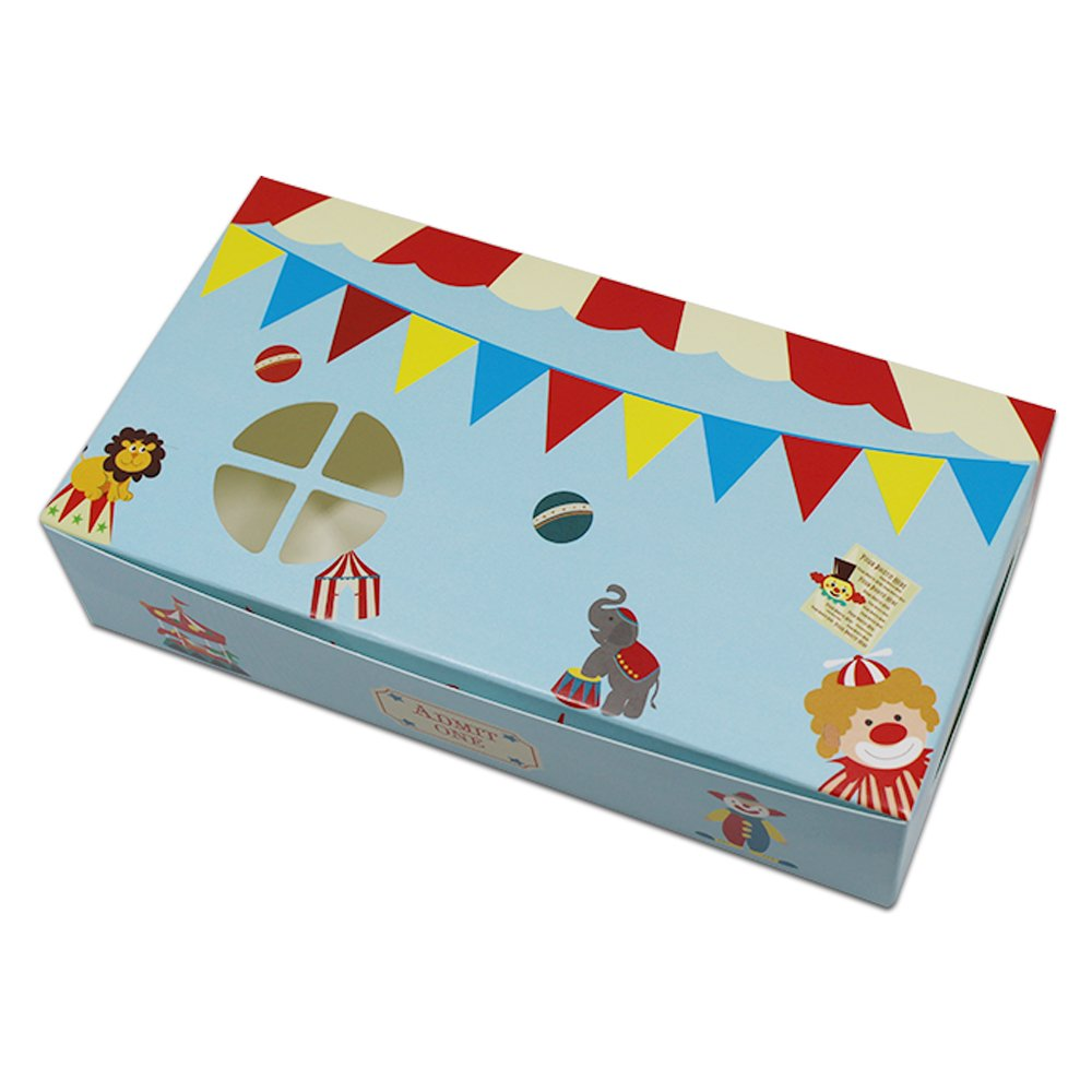 5.9x3.1x1.4 inch Special Design Cute Craft Paper Egg Tart Baking Box Cake Chocolate Candy Biscuit Kraft Paper Box DIY Handmade Gift Box (cute pattern / 300 Pcs)