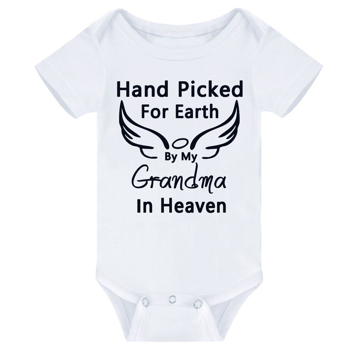 Ammengbei Baby Boys Girls Bodysuit Hand Picked for Earth by My Grandma Summer Onesies