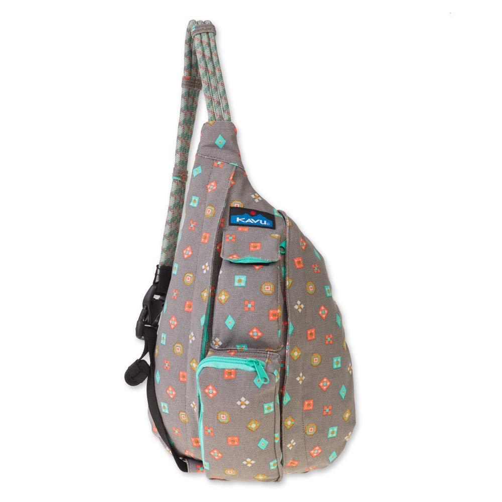 KAVU Mini Rope Bag Crossbody Shoulder Cotton Backpack - Fun Foulard, One Size
