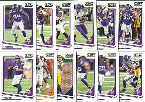 Minnesota Vikings Team Set - 2018 Panini Score Football Minnesota Vikings Team Set 12 Cards W/Drafted Rookies