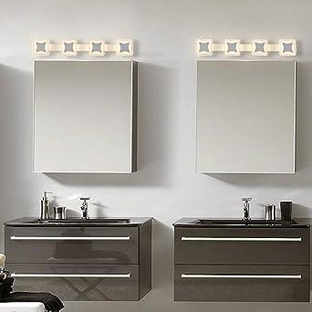 Badezimmerbeleuchtung Spiegel vorne Licht geführt, Bad Einfache ...