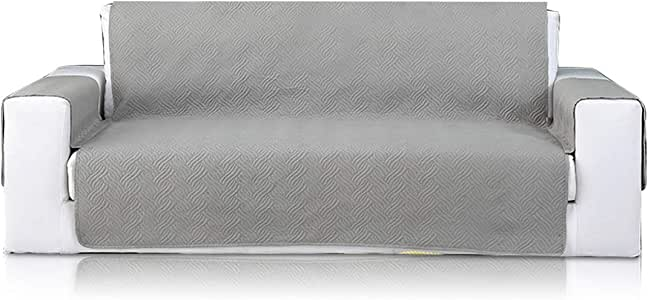 PETCUTE Sofa Cover Sofa Protector Modern Sofa Slipcovers Sofa Throw Couch Covers Furniture Protector 3 Seater Gray