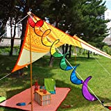Bingirl Rainbow Wind Spinner Rainbow Spiral Windmill Colorful Flag Camping Tent Pinwheel for Garden Home Decoration