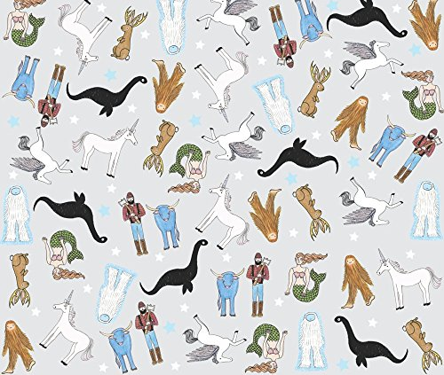 Bigfoot Fabric Mythical Party by Bishopart Printed on Basic Cotton Ultra Fabric by the Yard by Spoonflower - Bigfoot Party Supplies