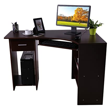 Computer Table Office Home Study Workstation Corner Desk Keyboard Tray,  Ergonomic Working Area, Office