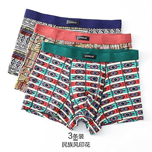 ZHFC-La ropa interior de los hombres pantalones sexy ropa interior sin costuras cintura modal