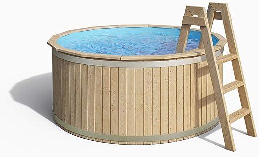 Madera Pool de Isidor, piscina Carl con Pool pantalla y madera maciza Escalera 240 x 107 cm: Amazon.es: Jardín
