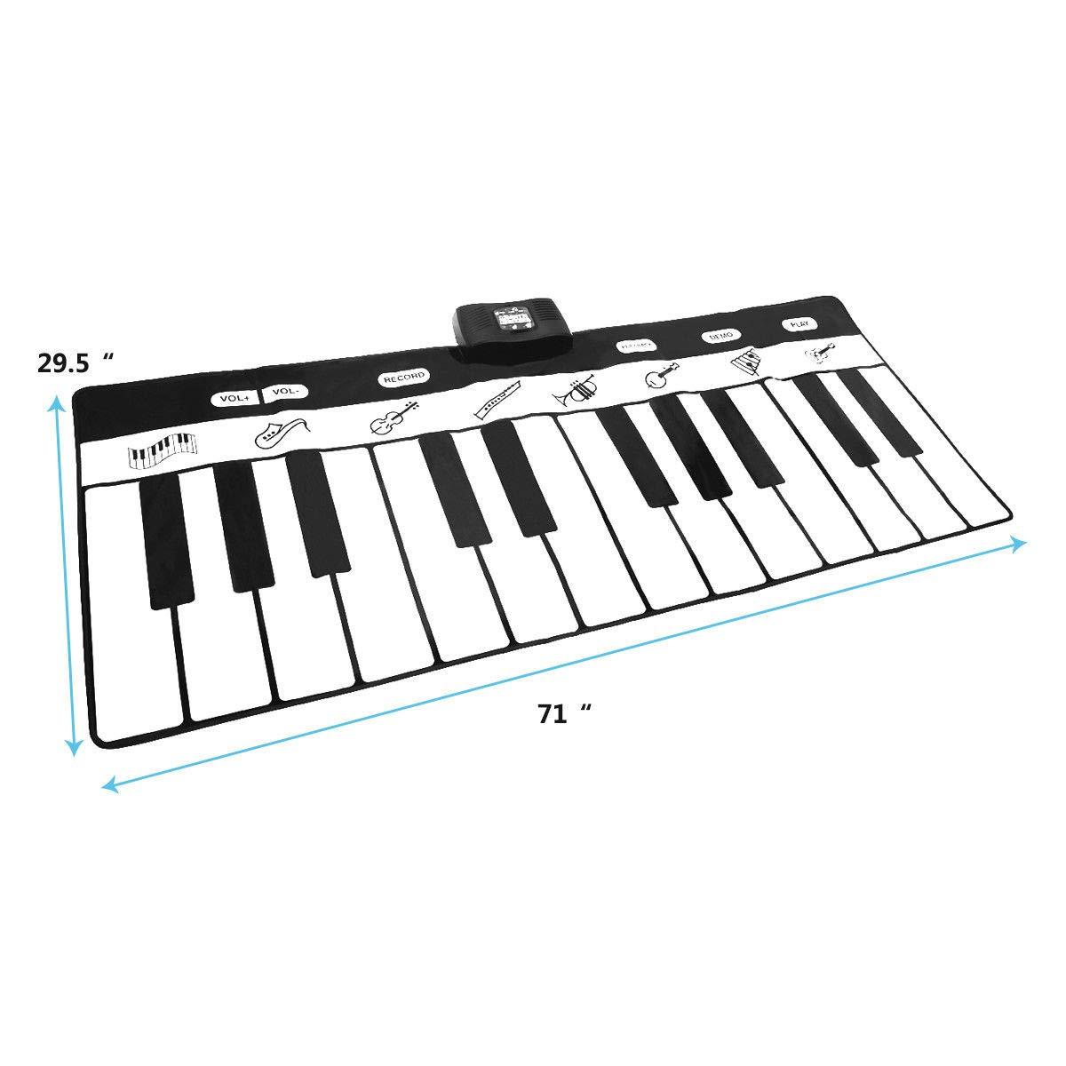 FDInspiration 71'' Kids 24-Key Keyboard Dance Gigantic Piano Playmat w/ 4 Modes with Ebook by FDInspiration (Image #4)