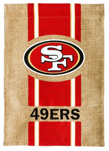 NFL San Francisco 49ers Burlap Garden Flag, 12.5