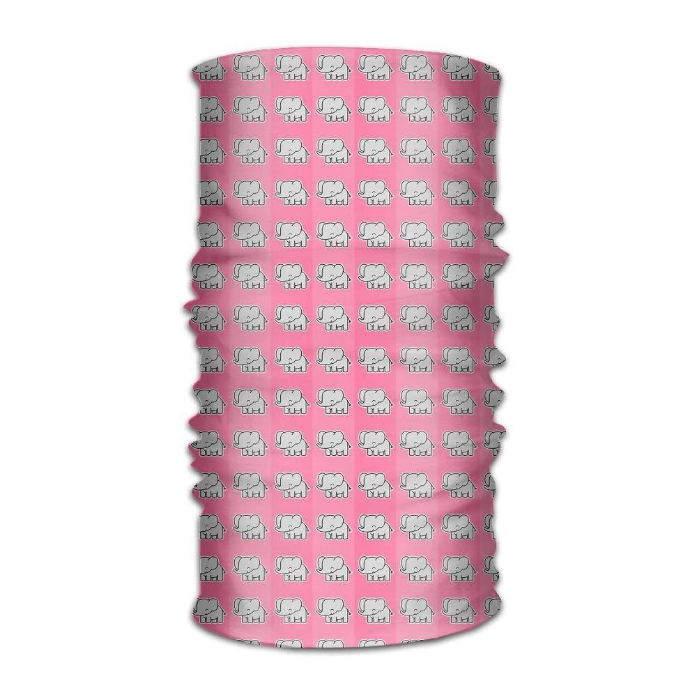 Magic Headwear Pink Elephants Pattern Outdoor Scarf Headbands Bandana Mask Neck Gaiter Head Wrap Mask Sweatband