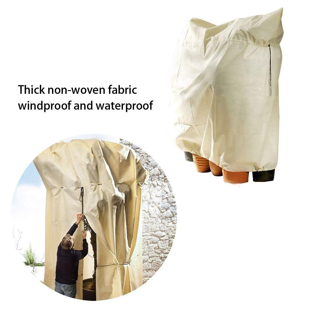 Anti-Freeze and Windproof Tree Cover Outdoor Garden Winter Plant Protection Cover Plant Bag Size : 80 * 60cm Furniture Protector Anti-Freeze Garden Tree Cover *10