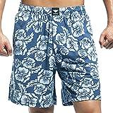 Godsen Men's 2-pack Elastic Cotton Pocket Short Pajama Shorts (Medium, 2pcGCS001Blue)