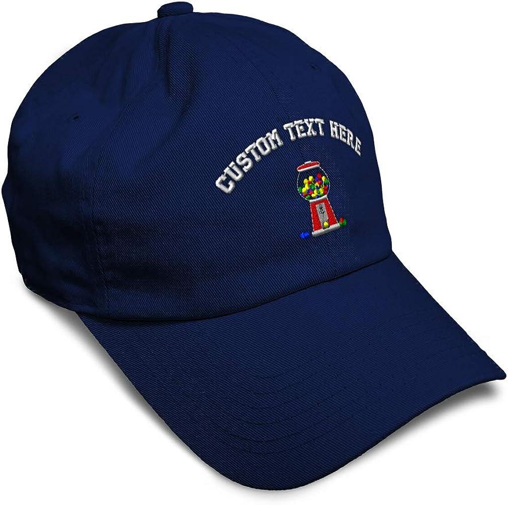 Custom Soft Baseball Cap Gumball Machine Embroidery Dad Hats for Men /& Women