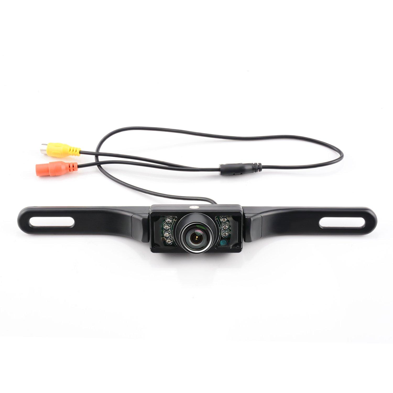 Car Rear View Camera, GerTong License Plate Backup Camera Color HD Waterproof Night Vision 170° Wide Angle Viewing Reverse Camera