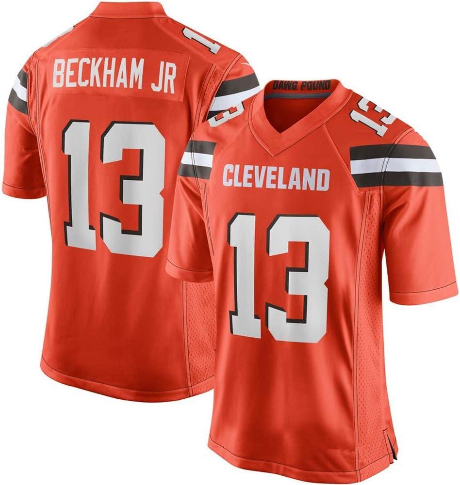 Edition Jersey Kurzarm Top Fan T-Shirts Cleveland Browns # 13 Beckham JR Herren Rugby-Trikot f/ür das Training Fans