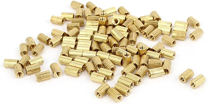 Details about  /2-40mm Messing  Spacers Female Round Standoff Column Monitoring Messing  Cylinde