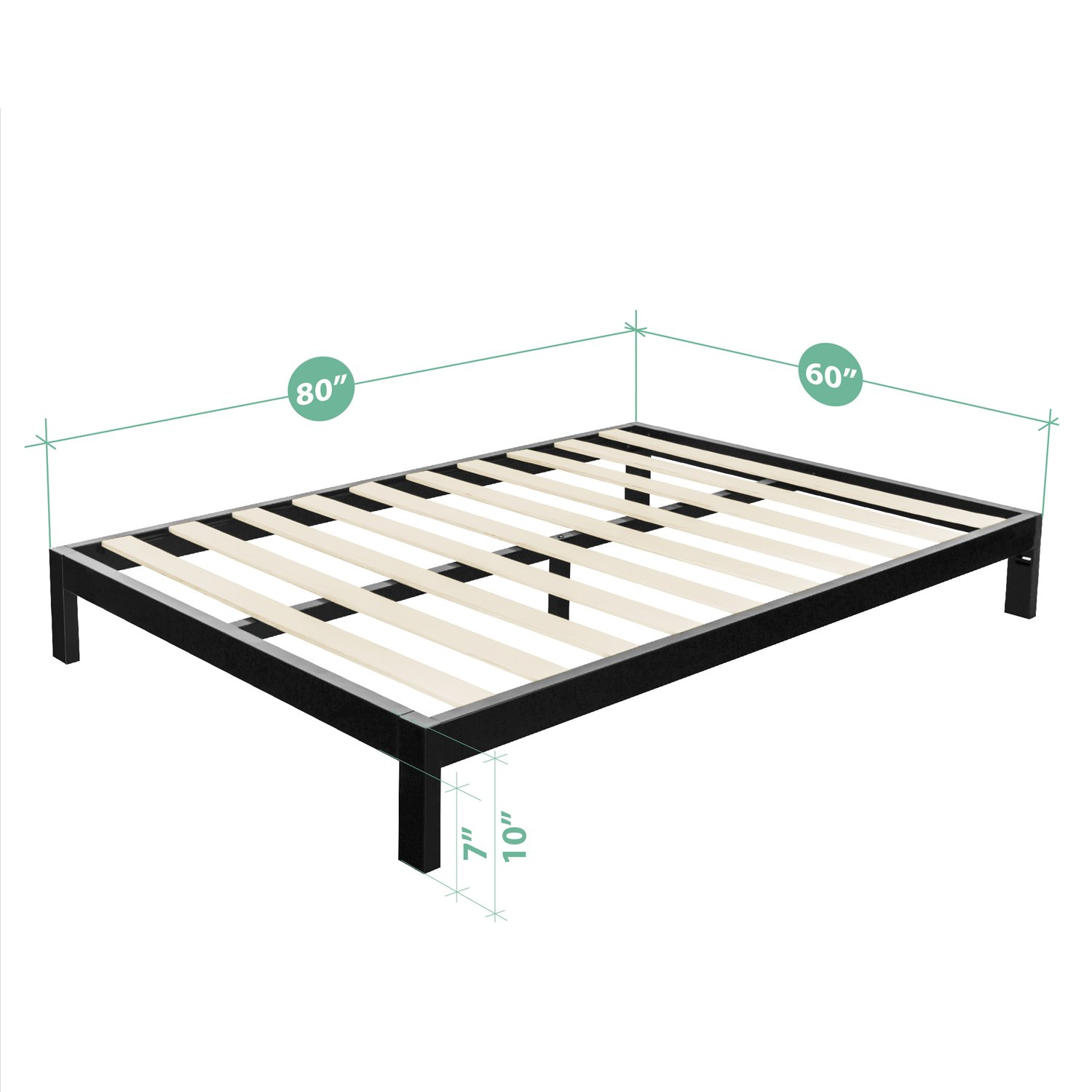 foundation overstock footboard platform leg shipping full mattress stable headboard box bed vecelo and free spring replacement with metal queen size frame garden product today twin home