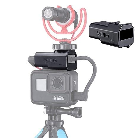 Soporte de micrófono GP-3 para GoPro Hero 7, 6, 5 y carcasa ...