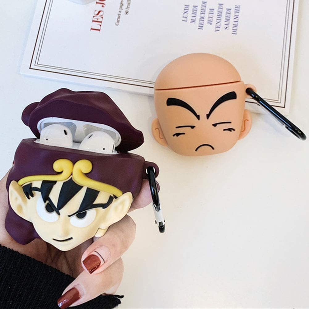 Style 06-2 Pack Elibeauty Anime Dragon Ball AirPods Case Cute Cartoon Airpod Case Compatible with Apple Airpods 1 /& 2 Charging Case TPU Protective Case for Kids Teens and Anime Fans